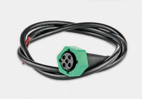 Bajonettstecker 5 Pin, Grün mit 5x0,5 mm² Kabel, 2m