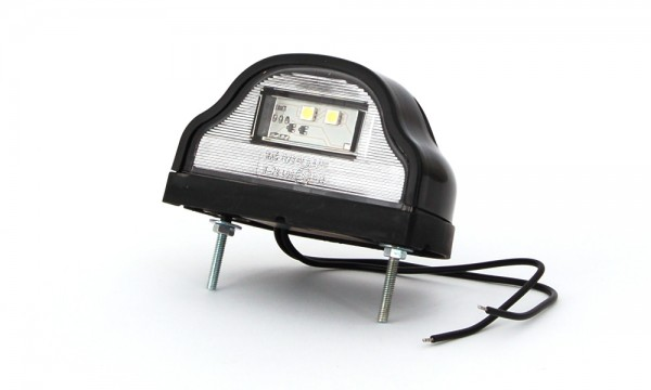 LED Kennzeichenleuchte schwarz Lkw Nummernschildleuchte