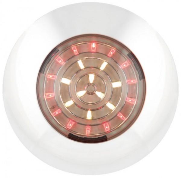 LED Rund Innenleuchte Rot - Weiß 12V