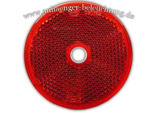 Reflektor Rot Rund 60mm