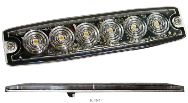 LED Warnlicht Gelb 6 LED 10-30V