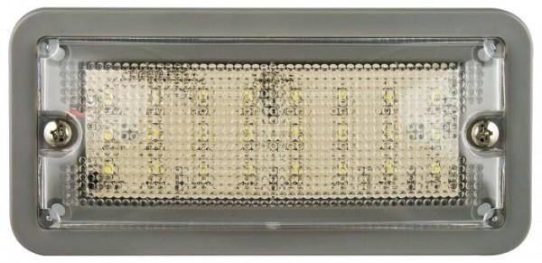 Innen Rechteckige Leuchte grau LED 12V