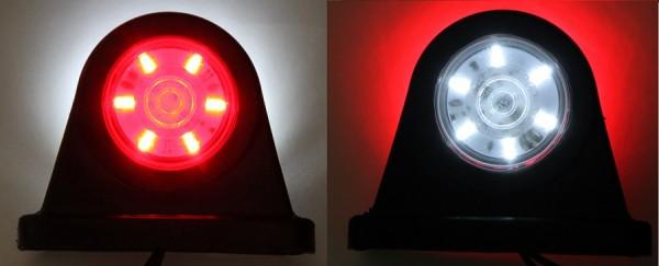LED Begrenzungsleuchte Rot, Weiß 12-24V bis 30Volt