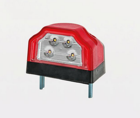 LED Nummernschildbeleuchtung mit Markierungslicht Rot