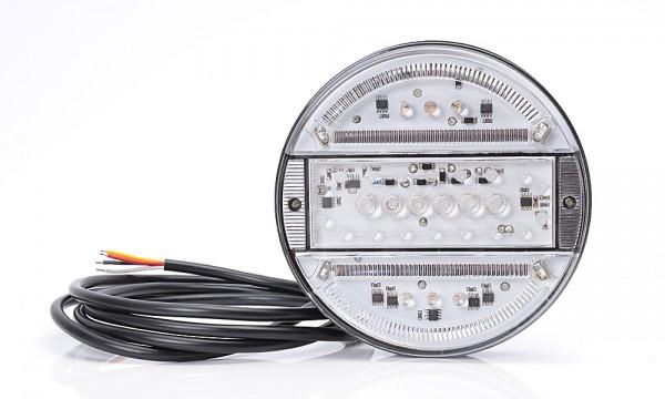 LED 3-Kammer Klarglas Licht 140mm-SLIM 9V-36V