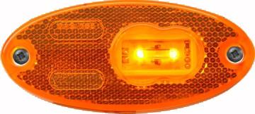 LED Seitenmarkierungsleuchte Gelb Oval 12V-24V