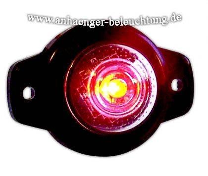 LED Umrissleuchte Rot Auge 12-14 Volt