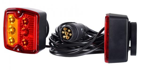 Magnet LED Rückleuchten-Set 12V verkabelt mit 7 Pol Stecker