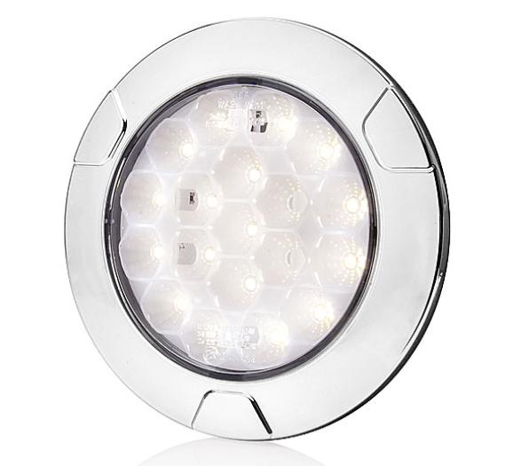 LED Rückfahrscheinwerfer für 12V und 24V Einbau-Aufbau