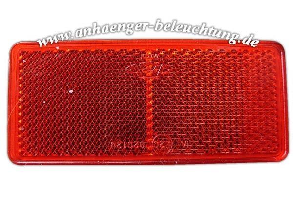 Reflektor Rot zum Aufkleben 40x88x7mm