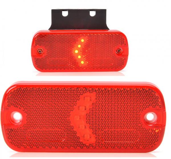 LED Positionsleuchte mit-ohne Halter 12-24V Rot