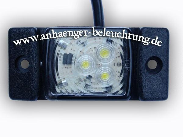 LED Umrissleuchte-Positionsleuchte Weiß 12V/24V