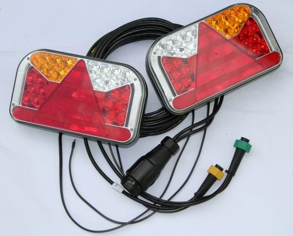 Led Neon Rückleuchten Set 13Pol Kabel 5m