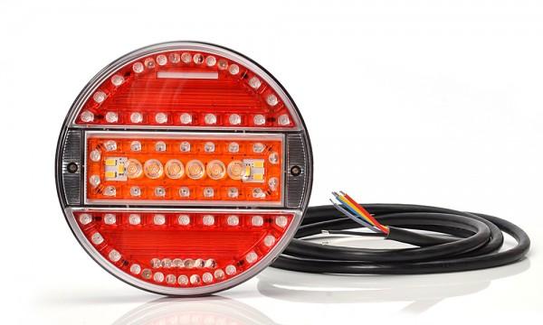 LED 5-Funktion Lampe 140mm - SLIM 9V-36V