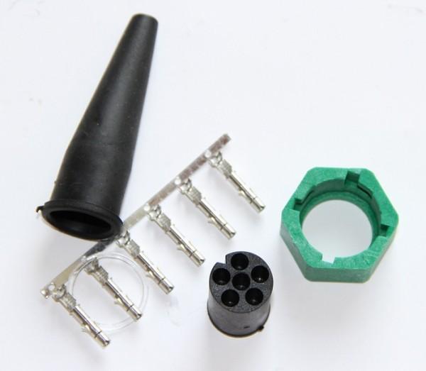 Bajonett-Stecker 6 polig Grün