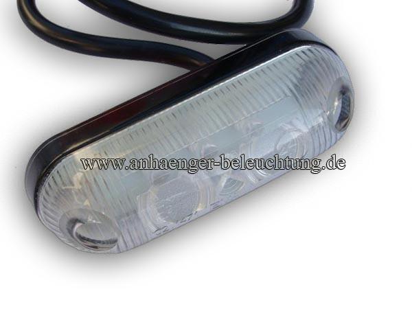 LED Umrissleuchte Weiss 12Volt und 24Volt