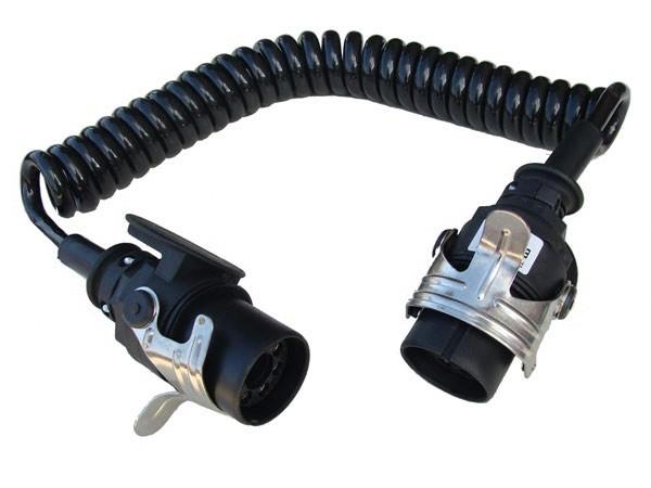 EBS Spiralkabel 24V - 7-pol, 5 x 1,5 + 2 x 4,0 mm²