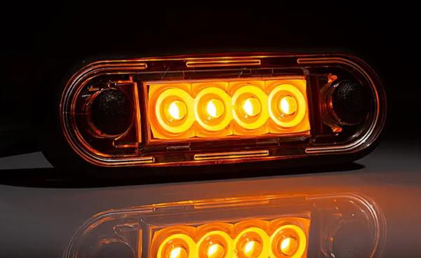 LED Umrissleuchte-Seitenleuchte Gelb mit Unterlagen 12-36V