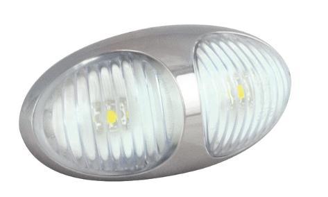LED Markierungsleuchte Weiß, 12V und 24V