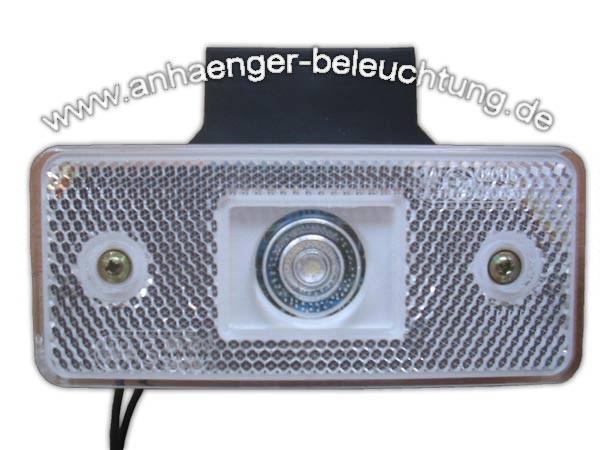 Positionsleuchte Weiss LED mit Winkel
