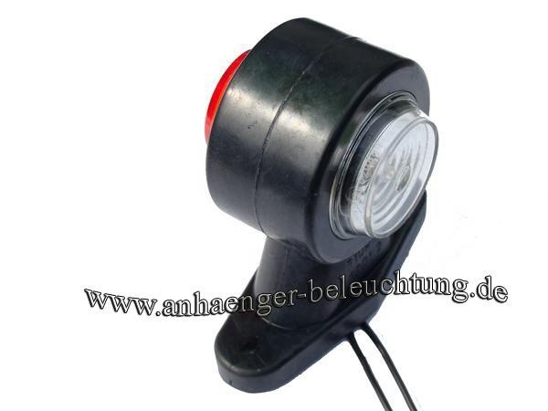 LED Begrenzungsleuchte am Gummiarm 12V-30V