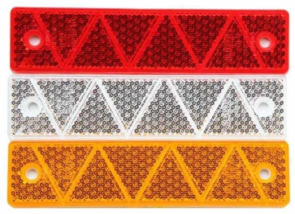 Reflektor groß Gelb, Rot oder Weiß zum Aufschrauben