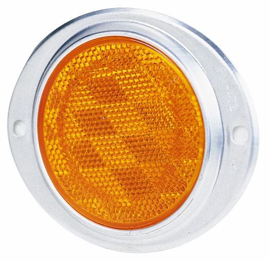 Reflektor Gelb oval, mit Aluminiumgehäuse 115x96mm