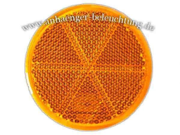 Reflektor Gelb zum Aufkleben 60mm