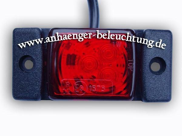 LED Umrissleuchte-Positionsleuchte Rot 12V/24V