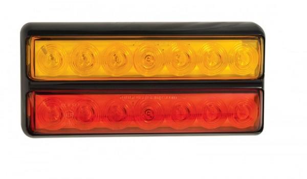 LED Doppel Slim-line 3-funktion Rückleuchte für 12V
