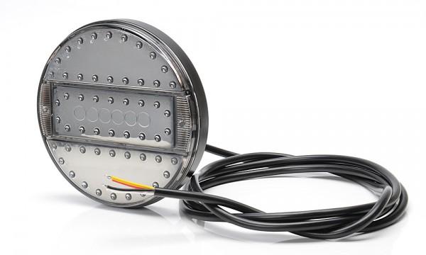 LED 3-Funktion Spiegel Leuchte Klarglas140mm- SLIM 9V-36V