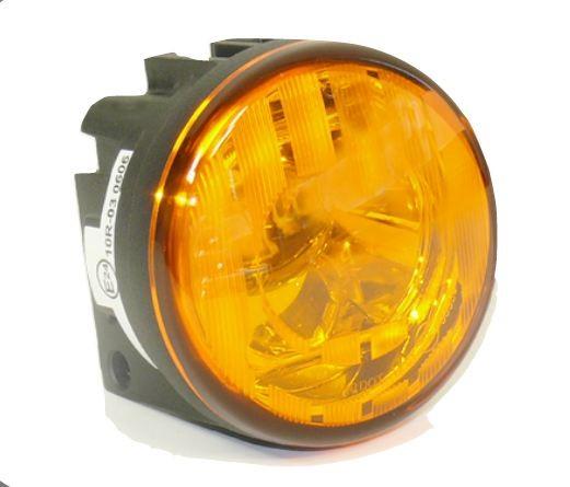 LED Blinkleuchte mit Gelbe Glas 70mm
