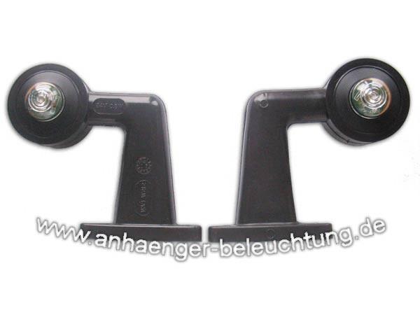Begrenzungsleuchten am abgewinkelten Gummiarm LED das Paar
