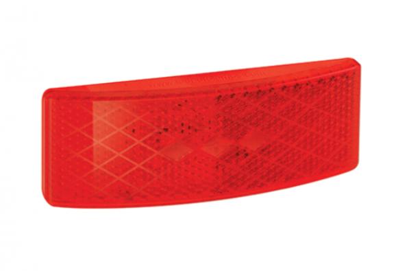LED Markierungsleuchte Flach, Rot 12V-24V