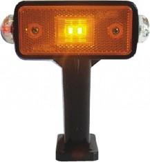 LED Begrenzungsleuchten am Gummiarm mit Seitenmarkierungsleuchte das Paar