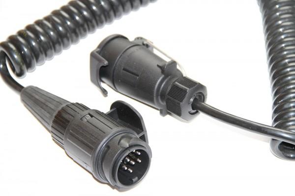 Adapterleitung, Spiral 13 auf 7 Pol. 4,5m
