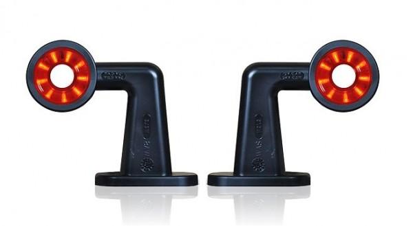 LED Anhänger Begrenzungsleuchten rot-weiß 12V-24V