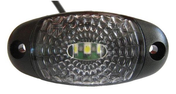 LED Umrissleuchte Weiß Oval 12-30V
