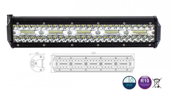 LED Panel, Arbeitslicht 100xLED, 6500 LM