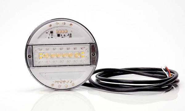 LED 5-Funktion Milch Klarglas Leuchte 140mm-SLIM 9V-36V