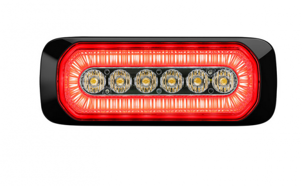LED Warnleuchte gelb R65 + Positionslicht rot ECE