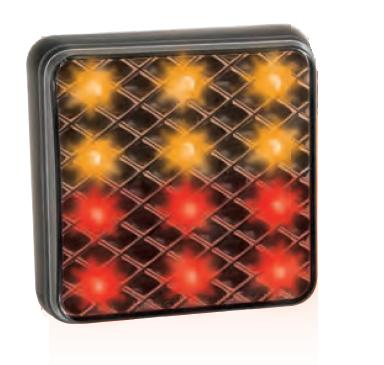 LED 3-Funktion Rückleuchte 81mm