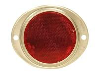 _ Reflektor oval Rot, mit Aluminiumgehäuse 115x96mm-1