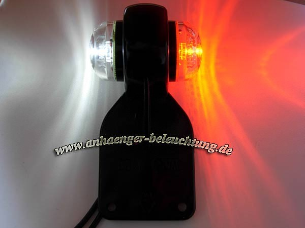 LED Begrenzungsleuchte - Pendel Umrissleuchte Rot, Weiß