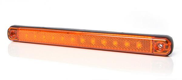 LED seitliche Umrissleuchte mit Reflektor 12-led Gelb