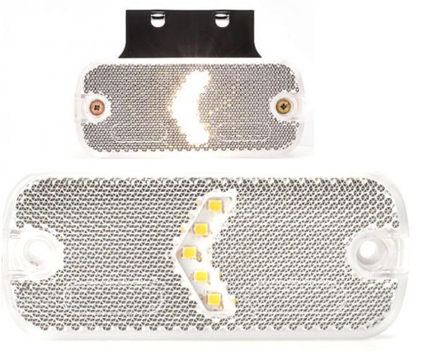 LED-Begrenzungsleuchte mit-ohne Halter 12-24V Weiß