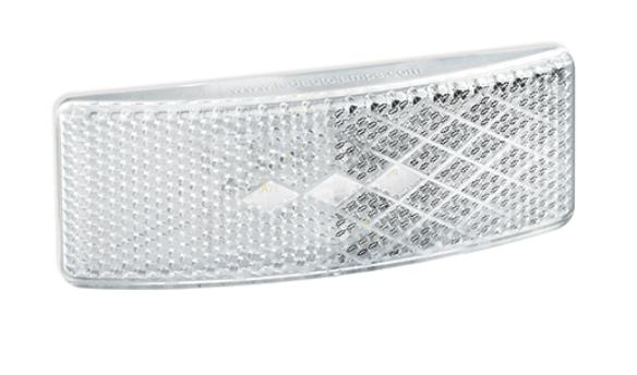 LED Markierungsleuchten Flach, Weiß 12V-24V