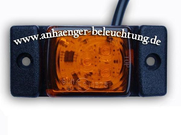LED Seitenmarkierungsleuchte Gelb 3 Dioden 12V/24V