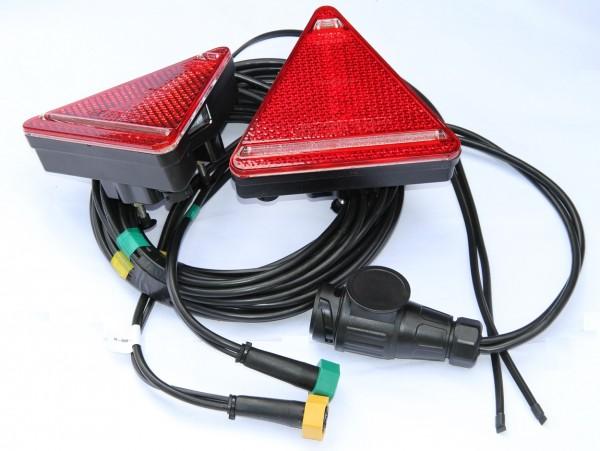 Dreieck Leuchten Set + Kabel 5m mit Kenzeichen