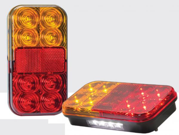 LED 3-funktion Leuchte mit Kenzeichen-, 150x80mm 12V